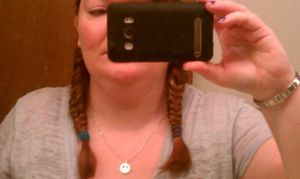 My First Ever Fishtail Pinktail Braids