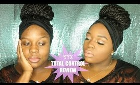 NEW NYX TOTAL CONTROL DROP FOUNDATION FIRST IMPRESSION REVIEW & DEMO APPLICATION | ON WOC