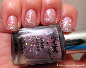 NYX Girls polish in Dynamic Glitter