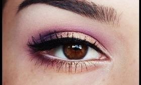 Purple plus Gold makeup tutorial