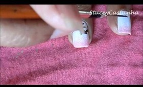 Cute and Easy Cherry Blossoms Nail Design | Tutorial