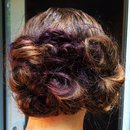 Strategically pinned curls