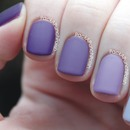 Matte Purple Ombre Nails