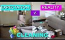 EXPECTATIONS VS REALITY   CLEANING THE HOUSE