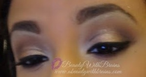 A variation on the typical gold looks for the holidays! More pics: http://www.abeautywithbrains.com/2012/12/holiday-party-makeup-rose-gold.html?m=1