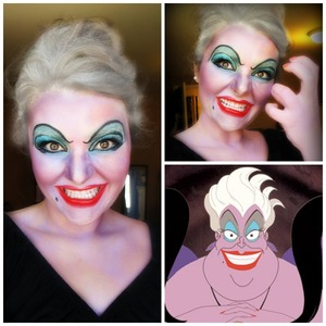 Here is another Halloween look I created of the evil sea witch Ursula from the Disney movie, The Little Mermaid. www.makeupbybree.ca