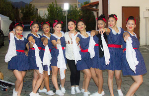 All these girls' makeup was done by me for a dance competition