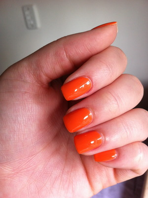 2.2 orange nails (I thought the previous one I did for #2 was too coral, so I tried it again).
