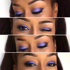 UltraViolet💜 As per usual I began with @simpleskincare protecting lightweight moisturizer, @elfcosmetics Poreless Face Primer. So I always start off filling in my brows to frame my face using @essence_cosmetics brown brow pencil and @maccosmetics eye pencil in Coffee. @nyxcosmetics eyeshadow primer in vivid white @bhcosmetics 4th edition 120 eyeshadow palette and 88 matte color palette , gel eyeliner in Onyx. Used @morphebrushes 94C concealer, @morphebrushes 20CON Palette as my contour and highlight. @maybelline fit foundation in 332 and Illegal length mascara in black. @rubykissescosmetics matte lipstick in Brown Sugar @realtechniques brushes on this entire look. HAIR: I used @yanicareproducts to oil my scalp and moisturize my hair, @cantubeauty coconut curling cream to soften my hair then just finger fluffed my blowout. Enjoy and recreate this look 💋 #maybelline #eyebrows #cantu #undiscovered_muas #maccosmetics #bhcosmetics #nyxcosmetics #nyccosmetics #wingedeyeliner #naturallyshesdope #teamnatural_  #makeup #houstonmua #dallasmua #4chairchicks #benaturallychic #realtechniques #lips #myhaircrush #kinky_chicks1 #wetnwildbeauty #returnofthecurls2 #eyebrows #follow #morphebrushes #selfie #lookoftheday #afropunk #violet #purple #blackradiance #maybelline #mattelipstick #contour #naturalbeauty #mua #makeupaddict