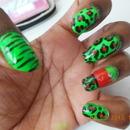 Leopard and Zebra Print Nails