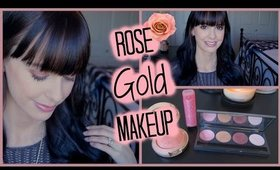 Easy Rose Gold Makeup Tutorial | missawhite17