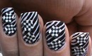 Optical Illusion Nails! Checks or Stripes Art ? Nail polish designs - Latest Nail Ideas DIY Tutorial