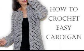 Crochet Easy Cardigan/Sweater