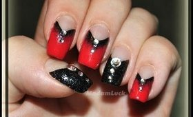 Simple True Blood inspired nail art tutorial