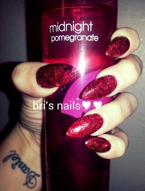 red glitter mix