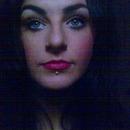 Red Lip Stick & long natrual lash