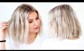 5 Minute Flat Iron Waves for Short Hair