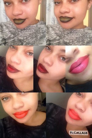 These are all my ombré lip looks, the pink to red being the very first one I've done!