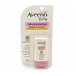 Aveeno Baby Natural Protection Mineral Block Face Stick, SPF 50