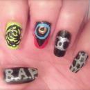 Kpoppin' Nails: B.A.P. - Rain Sound MV Nail Tutorial