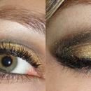 Black and gold smokey eyes