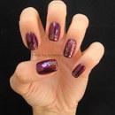 Glitter Triangle Manicure