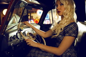 Vintage 1940's Gas Station Photo Shoot // Hair and Makeup by Me