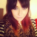 ombre hair,bangs,pink