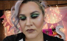 Fun Green and Orange Makeup Look | Mystiquee1986