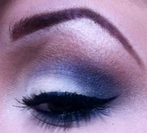 blue and cream shadows