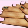 Gorgeous pink nails with black outline boarder.