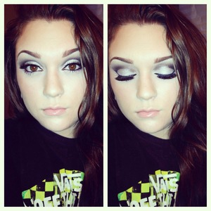First attempt on a cut crease kinda thing lol might put a tutorial up! YouTube/lowranmarie Facebook/makeuppbyLC