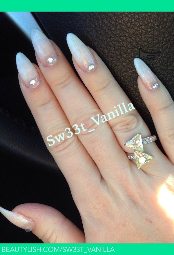 My White Stilleto Nails Lillianette G S Makeupbynuryg