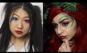 Asian Harley Quinn Inspired Look | Collaboration with Blinged Out Lemons