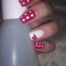 Dotty Pink Nails