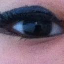 I put on some eyeliner and masara