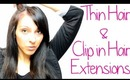 How to Apply Clip In Hair Extensions to Thin Hair - Tips for Thin Hair | Instant Beauty ♡