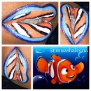 Finding Nemo inspired Lip Art