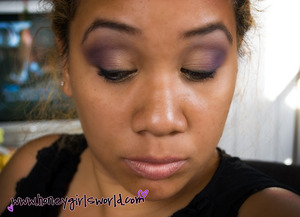 Soft Purple & Gold look - using motives cosmetics