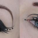 Eyeliner and lashes