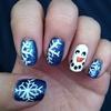 Snowflake, snow man