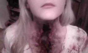 Slit throat special effects makeup