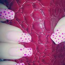Dotted Pink Nails