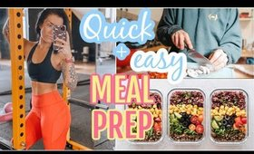 VLOG   HEALTHY + EASY MEAL PREP   WEIGHT LOSS