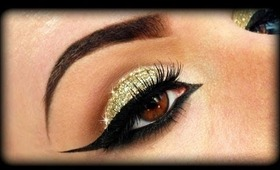 Gold Glitter Elegant Make Up Tutorial