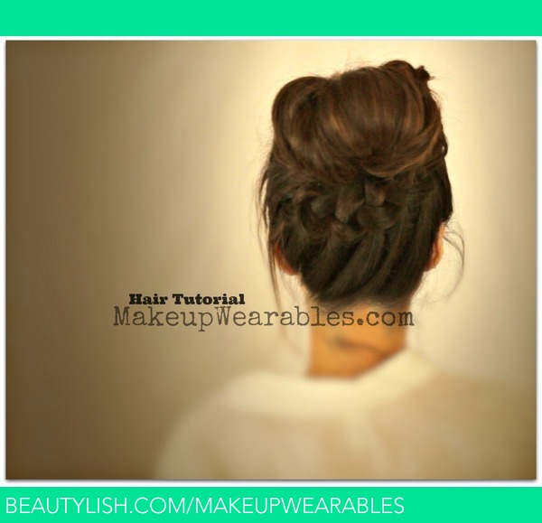 Braided Messy Bun & Ponytail