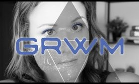 GRWM:BLUE EYELINER & BEACH WAVES