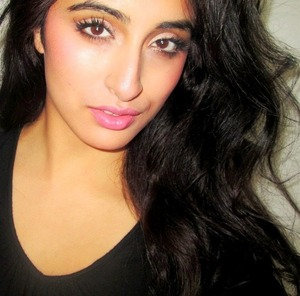 Victoria Secret Pink Inspired Makeup. Flirty Holiday look