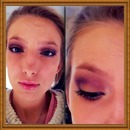 Purple and gold eye look
