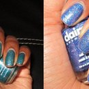 Glitter polishes from Claires